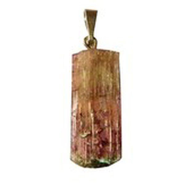 Přívěsek turmalín růžový krystal