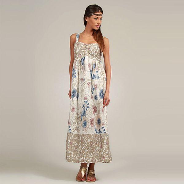 Bavlněné béžové šaty