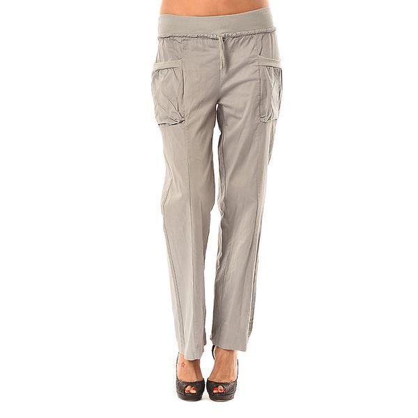 Dámské šedé volné kalhoty Pink Garden