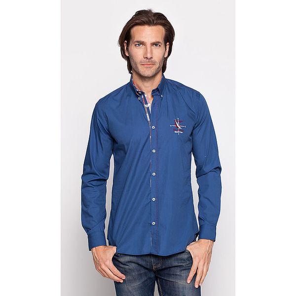 Pánská modrá bavlněná košile Giorgio di Mare