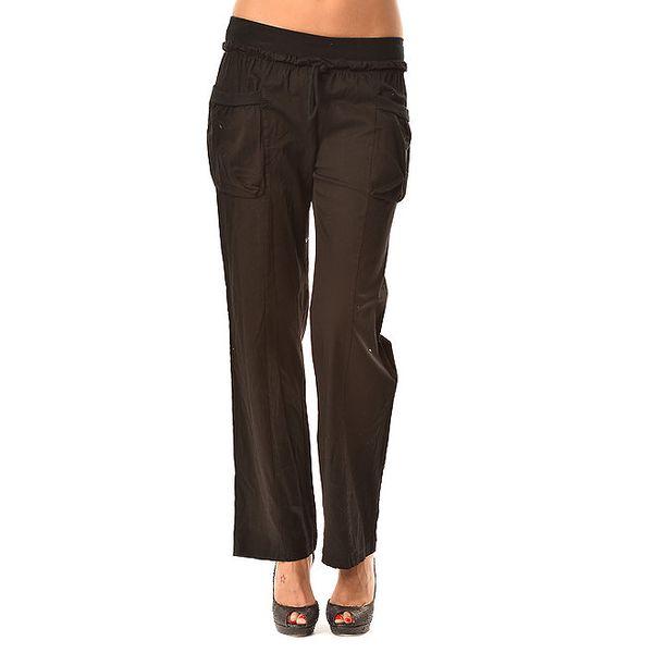 Dámske čierne voľné nohavice Pink Garden