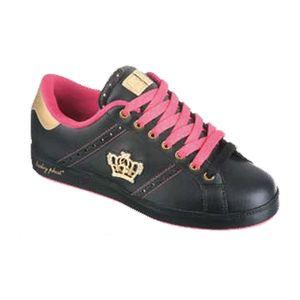 Dámské tenisky Baby Phat černé s růžovou a zlatou