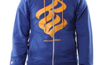 Pánská mikina Rocawear modro-oranžová celorozepínací