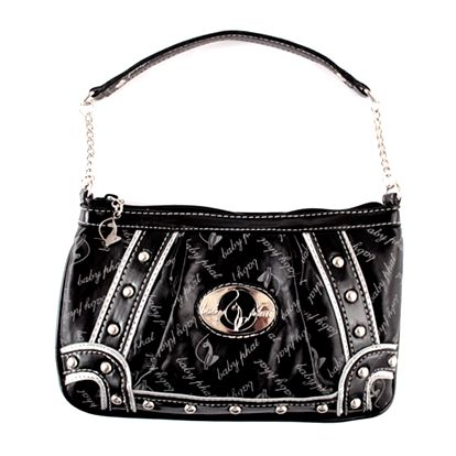 Dámská kabelka Baby Phat černo-stříbrná