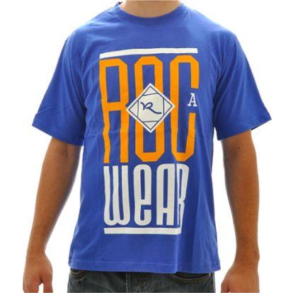 Pánské triko Rocawear modré bílo-oranžové logo