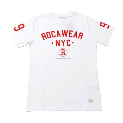 Pánské triko Rocawear bílé logo nápis