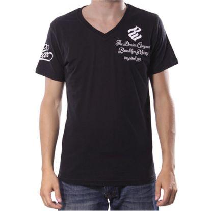 Pánské triko Rocawear černé výstřih do V