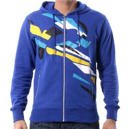 Pánská mikina Rocawear modrá s logem celorozepínací