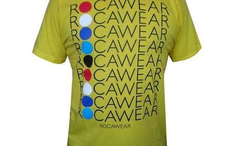Pánské triko Rocawear žluto-zelené s potiskem