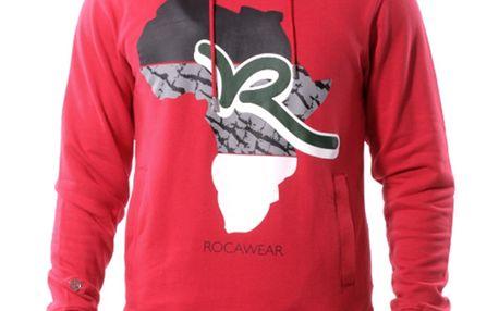 Pánská mikina Rocawear červená s obrázkem