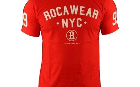 Pánské triko Rocawear červené logo nápis