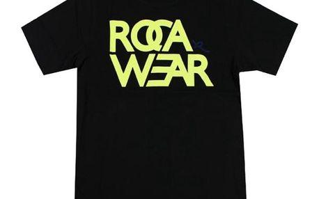 Pánské triko Rocawear černé žlutý logo potisk