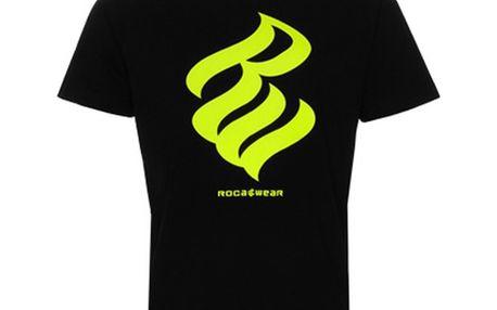 Pánské triko Rocawear černé žluté logo