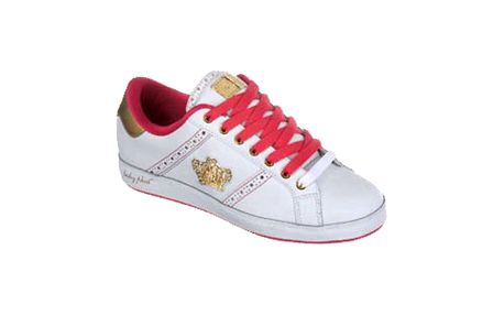 Dámské tenisky Baby Phat bílé s růžovou a zlatou
