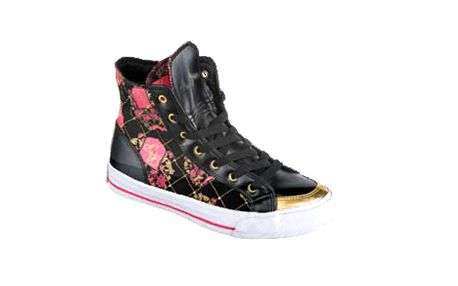 Dámské kotníkové boty Baby Phat černé s potiskem