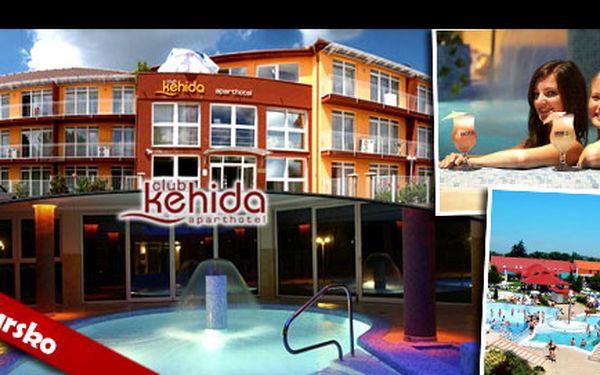 WELLNESS & ODPOČINKOVÁ DOVOLENÁ PRO DVA V KEHIDAKUSTÁNY V MAĎARSKU se slevou až 52 %: Nechte se rozmazlovat na 4 dny v apartmánu hotelu Aparthotel Club Kehida vedle termálních lázní Kehida. Vychutnávat si budete nejen bohaté snídaně, ale i hotelové wellness.