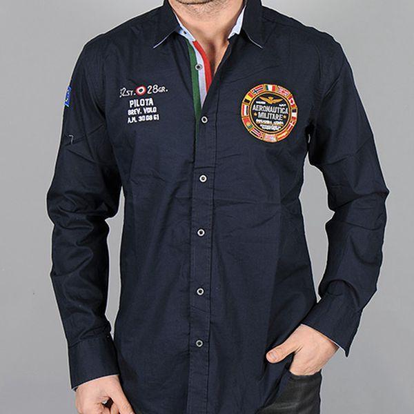 Tmavě modrá košile Pilota Aeronautica Militare