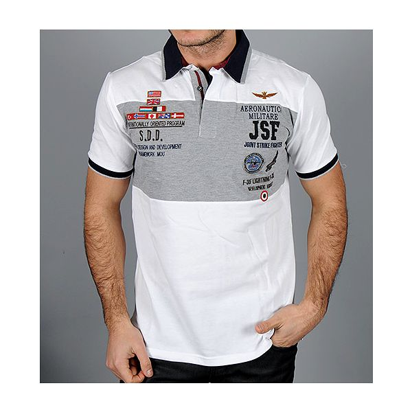 Bílá polo košile Aeronautica Militare