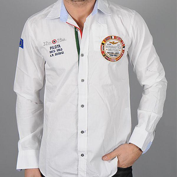 Bílá košile Pilota Aeronautica Militare