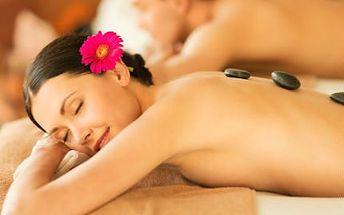 Relaxační aroma masáž s lávovými kameny PRO DVA!