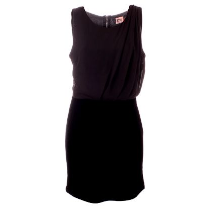 Dámské černé šaty Only s dlouhým zipem