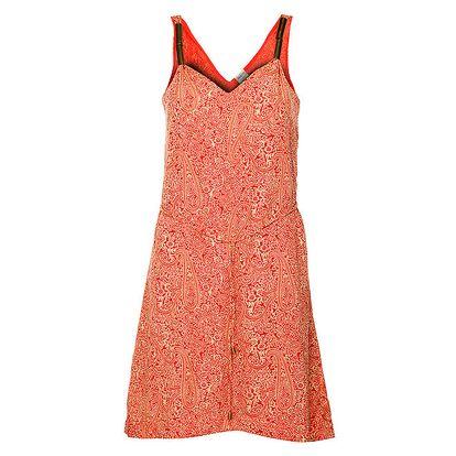 Dámské červené šaty Object s ornamenty
