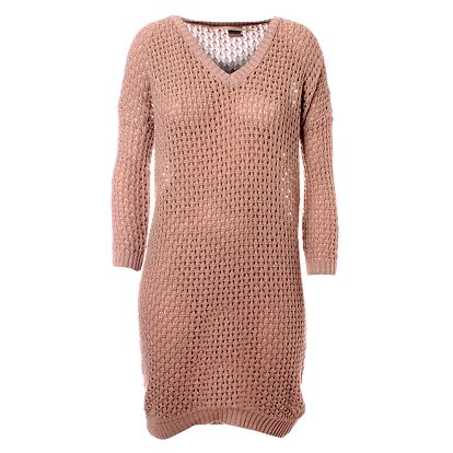 Dámske pieskové pletené šaty Object