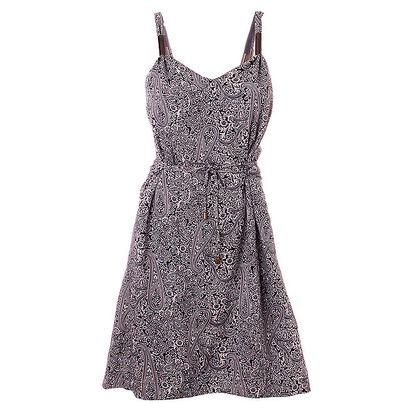 Dámské indigové šaty Object s ornamenty