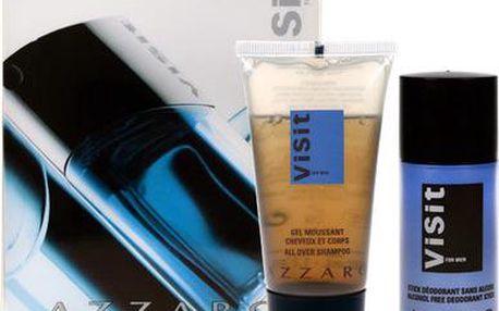 Azzaro Visit dárková sada M - 50ml šampón + 20gr deostick