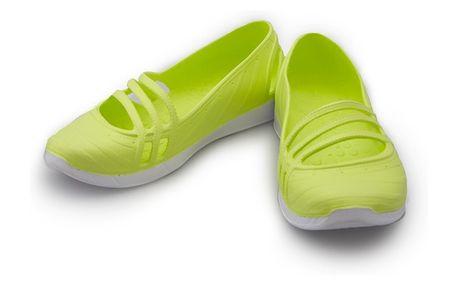 Dámské baleríny Adidas limetkovo-bílé 39