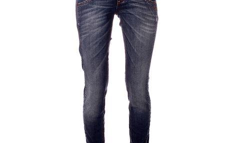 Dámské modré džíny s přehyby Object