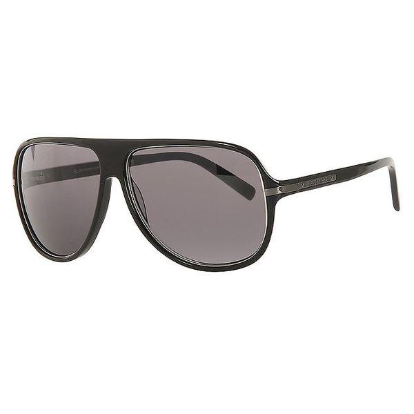 Pánské černé sluneční brýle s velkými hnědými skly Michael Kors