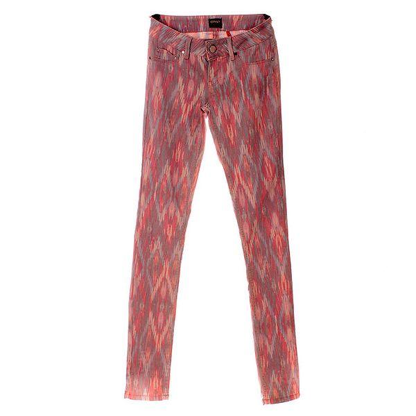 Dámské růžové kalhoty Only s aztéckým vzorem