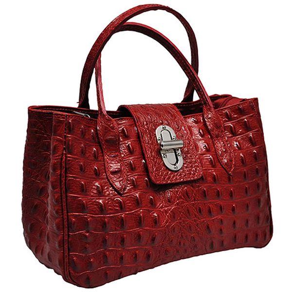 Tmavě červená kabelka Iris