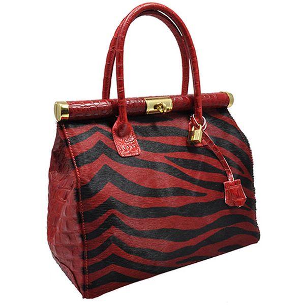 Červeno-černá kabelka Julia
