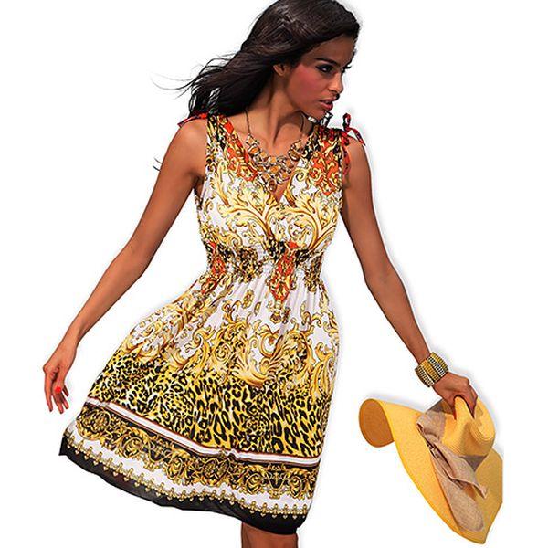 Krátké leopardí šaty