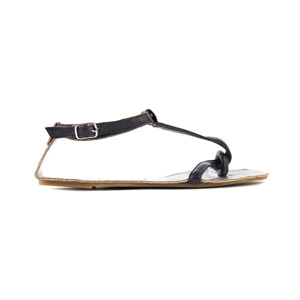 Dámske tmavo fialové sandále Lise Lindvig so striebornou stielkou