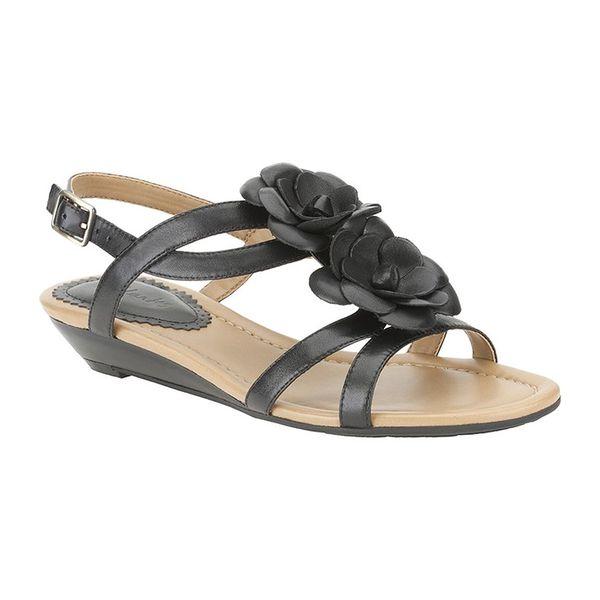 Dámské sandály Clarks černé zdobené
