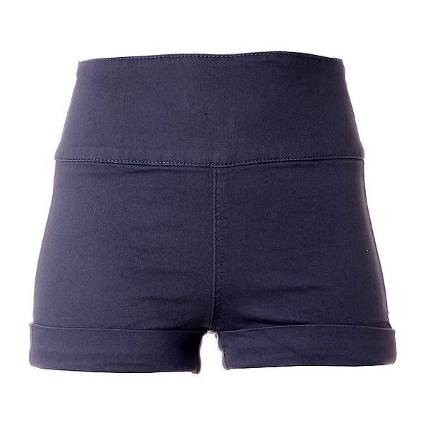 Dámske modré elastické minišortky Pieces