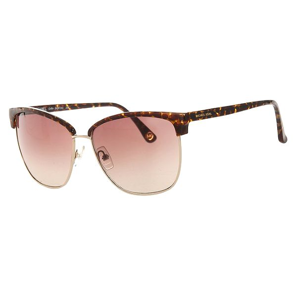 Dámské žíhané sluneční brýle se zlatými rámečky Michael Kors