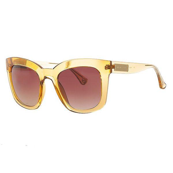 Dámske žlté transparentné slnečné okuliare Michael Kors