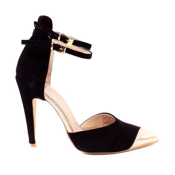 Dámské černé semišové sandály Pieces