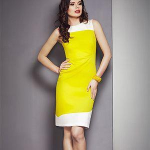 Žluto-krémové šaty