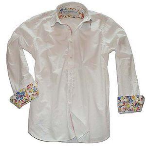 Bílá bavlněná košile Hippie