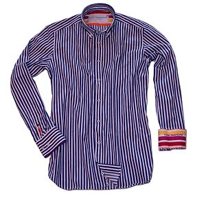 Pruhovaná bavlněná košile Cobalt