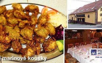 Specialita restaurace Dřevák na Kladně! Marinované kuřecí kousky Dřevák ve speciálním bramboráku pro 2 osoby!