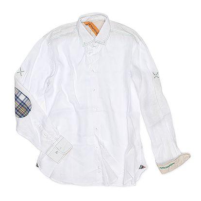 Bílo-modrá bavlněná košile Portofino