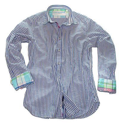 Navy pruhovaná bavlněná košile