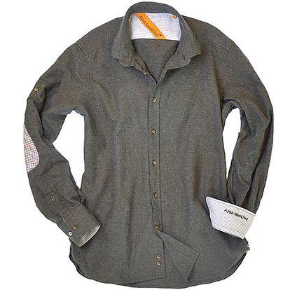Šedá bavlněná košile Portofino