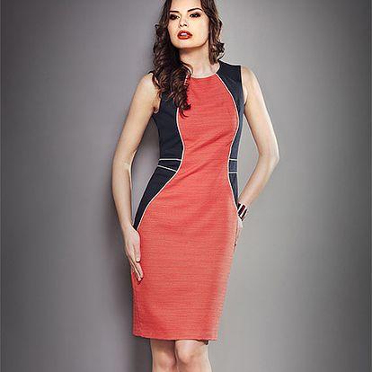 Pouzdrové korálové šaty